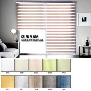 Window Blinds Light Filtering Zebra Shade Pastel Fabrics Anti Uv Custom Made