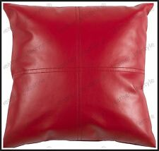 New Genuine Soft Lambskin Pure Leather Pillow Cushion Cover All sizes PS01