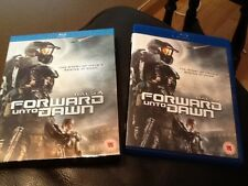 HALO 4 FORWARD UNTO DAWN . THE STORY OF HALO 4 BEGINS AT DAWN . BLU RAY DISC