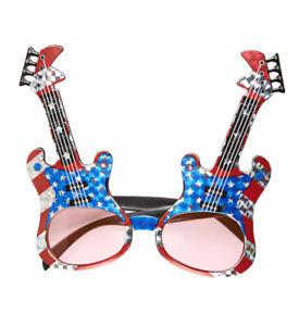 New Novelty Guitar Sunglasses Rock Star Fancy Dress Fun Accessory Elton John