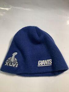 NY New York Giants Super Bowl XLVI knit Hat Eli manning youth adult small