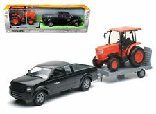 NEWRAY 1:18 KUBOTA - PICKUP TRUCK WITH TRAILER & L6060 FARM TRACTOR Diecast Car