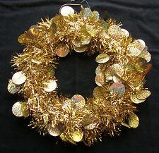 Sparkly Gold Tinsel Wreath Door Decoration Christmas CHEAP Christmas Wreath