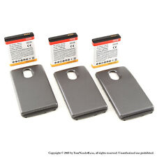3 x 3800mAh Extended Battery for Samsung Galaxy Nexus L700 Sprint Black Cover