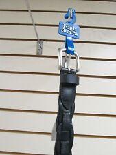 Mens High Sierra Genuine Leather Black Inter Locking Braided Belt  - Size 42
