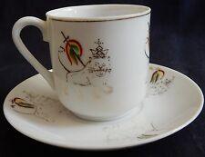 / Tasse et soucoupe (anciennes) en Porcelaine décor Ethiopie