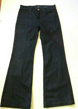 7 FOR ALL MANKIND GINGER WOMENS BLUE JEANS WIDE LEG SIZE (30) 32 X 32 EUC