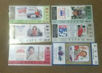 (Set of 6) 1990-1995 Indianapolis (Indy) 500 Ticket Stubs 1991 1992 1993 1994