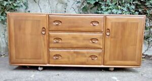 Vintage Ercol Windsor 455 Sideboard - Cabinet Cupboard Mid Century Retro 60's