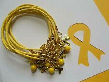 SIX (6) CHILDHOOD CANCER  AWARENESS BRACELETS W/GOLDEN HOPE RIBBON CHARM