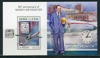 SIERRA LEONE 2018 60th  ANNIVERSARY OF THE  MUNICH AIR DISASTER  S/S  MINT NH