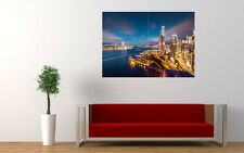 "HONG KONG NIGHT NEW GIANT LARGE ART PRINT POSTER PICTURE WALL 33.1""x23.4"""