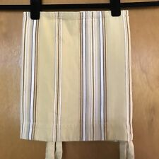"""Pottery Barn Hudson Stripe Cafe Valance 13"""" x 44"""" Tie Top French Country Yellow"""