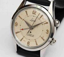 1950s vintage LORDS HIRSCH Swiss ALARM 17 Jewel Mens Wristwatch, STAINLESS STEEL