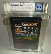 Donkey Kong Jr. Math (Nintendo, 1985) NES Complete CIB WATA 6.5 Nice Shape HT