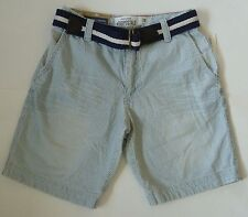 Mens AEROPOSTALE Belted Railroad Stripe Chino Shorts size 28 NWT #0858