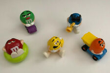 M&M Collectable Mini Candy Dispensers/Plush Toys Mixed Lot of 5