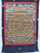FRAMED ANTIQUE THANGKA BUDDHA SHAKYAMUNI MANDALA - TIBET - 19th C.