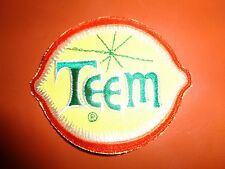 TEEM LEMON LIME SODA PATCH 4 x 3 inches VINTAGE COOL!!