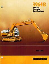 International Vintage 3965B Excavator Specifications Brochure