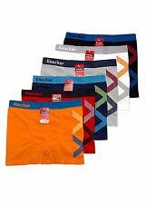 6 Mens Microfiber Boxer Briefs #MS49 Underwear Compression Knocker One Size