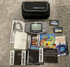 Nintendo Game Boy Advance Console System - Clear Glacier+Carry Case Functional!!