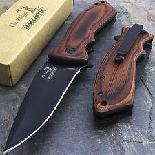 """7.75"""" ELK RIDGE WOOD SPRING ASSISTED FOLDING POCKET KNIFE Blade Open Assist"""