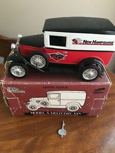 Liberty Classics Racing Champions Model A Delivery Van Coin Bank - New Hampshire
