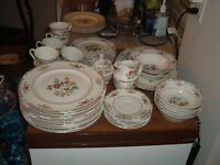47 Pieces Royal Doulton Kingswood Fine China: Dinner Plates, Serving Pieces Plus