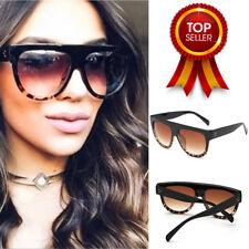 Dodo Oversized Aviator Gradient Sunglasses for Women - Black Leopard