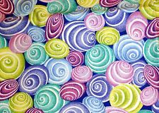 NEW Scrubs ~ Mock Wrap Print Scrub Top ~  M  ~ Whirly Swirls Royal ~ # 518