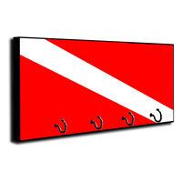 American Flag Firefighter Maltese Cross Design Key Holder Dog Leash Hanger