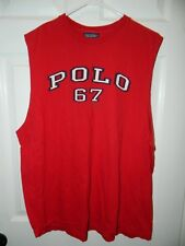 """POLO Ralph Lauren"" Men's Polo 67 Sleeveless shirt Sz M 100% Cotton Excellent"