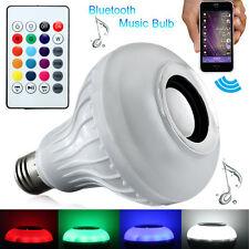 6W E27 LED Bluetooth Speaker Music Bulb RGB Change With Remote A2DP 110V/220V