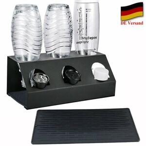Premium Abtropfhalter für SodaStream Flaschen Aluminium Flaschenhalter + Pad DHL
