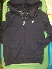 Ralph Lauren Pony Custom Fit Zip Sweatshirt Hoodie blue Women's Medium EUC