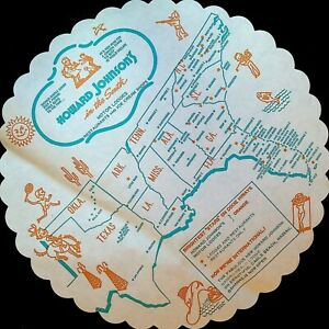 Howard Johnson's in the South 1959 Pie Placemat Simple Simon