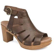 New! Dansko 'Demetra' Brown/Teak Leather Bootie Sandal Shoes Womens 41 (10.5/11)