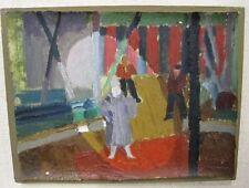 """unleserl.signiert """"Pierrot"""", Öl/leinwand doubliert    (259/12063)"""