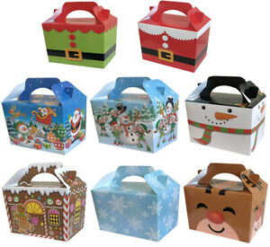 Christmas Party Food Box Kids Meal Sweet Candy, Gift, Lunch Santa Xmas Boy Girls
