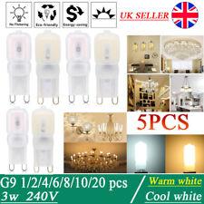 1/5pcs G9 3W LED Lights Dimmable Capsule Bulb Replace Halogen Light Lamps 240V