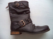 Womens CARLOS Ashley boots sz 6 by Carlos Santana fashion buckle zipper back