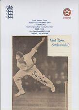 Frank Tyson Inghilterra Giocatore di Cricket 17 X Test 1954-1959 RARA FOTO ORIG a mano firmato