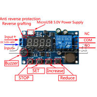 Real-time Timing Switch Relay Module Control clock Synchronization Delay Timer