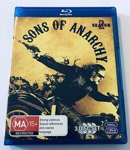 Sons Of Anarchy : Season 2 Blu Ray 3-Discs VGC MA15+ Drama Series Region B Aus