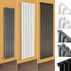 Horizontal Vertical Designer Bathroom Oval Column Radiator White Anthracite Rad