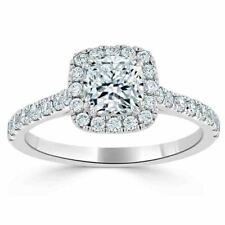 1.20 Ct Cushion Solitaire Diamond Anniversary Proposal Ring Real Gold Wedding