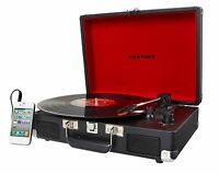 CROSLEY CRUISER 3-SPEED HOME STEREO RECORD PLAYER TURNTABLE SYSTEM BRIEFCASE AUX