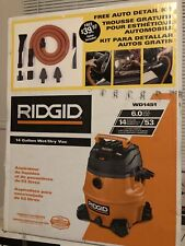 Rigid 14gal Wet&Dry Vac Plus Auto Detailing Kit Model# Wd1451