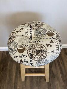 bar stool cushioned cover in home decore fabric  Coffee/latte/espresso